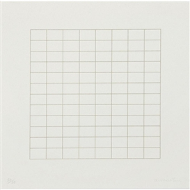 Artwork by Agnes Martin, ONE FINE DAY, Made of screenprint on Japanese paper