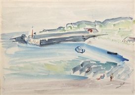 Artwork by Nano Reid, A Summers Day, Portnablagh, Co. Donegal, Made of Watercolour