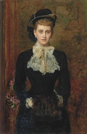 Sir John Everett Millais, Countess de Pourtales, the former Mrs Sebastian Schlesinger