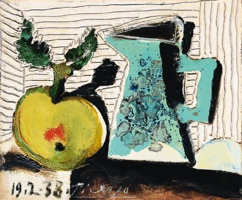 Pablo Picasso - Nature morte à la pomme et au...