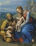 Philippe de Champaigne, The Holy Family with a Sparrow
