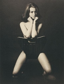 Artwork by Lewis Morley, CHRISTINE KEELER, Made of Platinum palladium print on Arches aquarelle paper