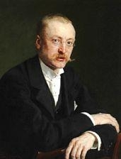 Artwork by Peder Severin Krøyer, Portrait of Alfred Benzon (1855-1932), Made of Oil on canvas
