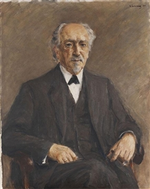 Artwork by Max Liebermann, Bildnis Geheimrat Prof. Dr. Benno Erdmann, Made of Oil on canvas