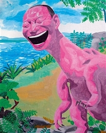 Artwork by Yue Minjun, Jurassic, Made of Oil on Canvas