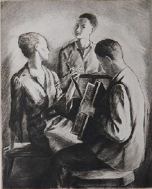 Artwork by Frederic Taubes, Concerto, Made of etching