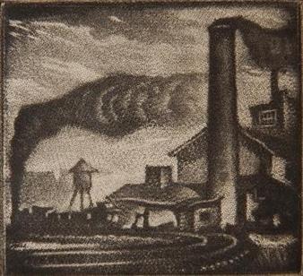 Cincinnati By Reynold Weidenaar ,1947