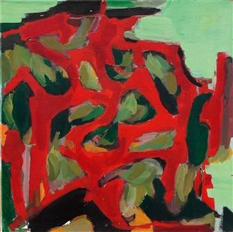 Komposisjon i rødt og grønt By Jens Johannessen