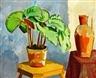 Karl Oscar Isakson, Still life with a begonia