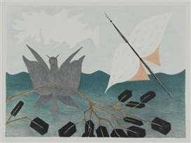 Artwork by Meret Oppenheim, In der Nähe von Brasilia, Made of Lithograph printed in colors