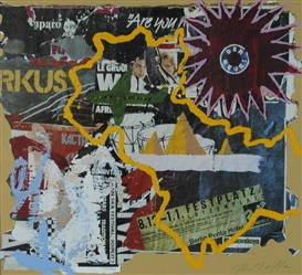 Artwork by Mimmo Rotella, Berlin, Made of Décollage and lithograph printed in colors
