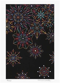 Artwork by Fred Tomaselli, Untitled, Made of Color ink-jet print on white wove paper