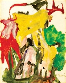 Artwork by Willem de Kooning, East Hampton XXVII, Made of oil on paper mounted on canvas