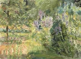 Artwork by Max Liebermann, Wannseegarten, Made of oil on canvas