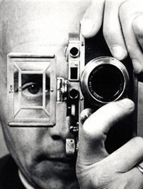 Artwork by Umbo, Selbstportrait mit Kamera. 1952, Made of Gelatin silver print