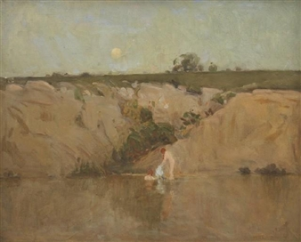 Bathers in Moonlight By W.B. McInnes