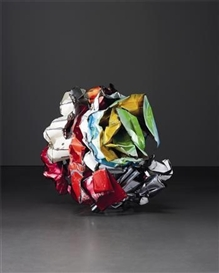Artwork by John Chamberlain, Opera Chocolates, Made of painted and chromium plated steel