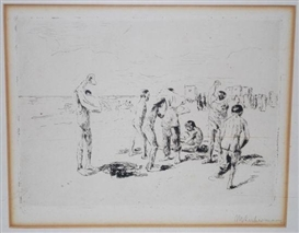 Artwork by Max Liebermann, Badende Knaben, Made of Etching