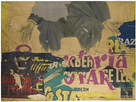 Artwork by Mimmo Rotella, TUTTO FARE, Made of Decollage on canvas