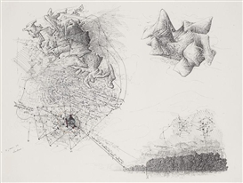 Artwork by Jean-Olivier Hucleux, SANS TITRE, Made of Drawing in Indian ink on paper