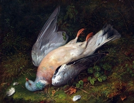 Artwork by Robert Hudson, Dead Pigeon, Made of Oil on Canvas