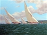 Michael J. Whitehand, Britannia Racing White Heather, Candida and Cambria off Yarmouth