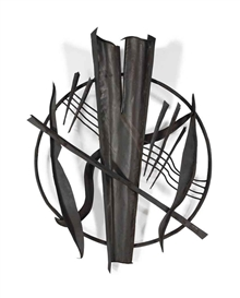 Artwork by Herbert Ferber, Wall Sculpture, Made of welded steel