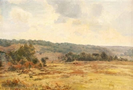 Artwork by Carlile Henry Hayes Macartney, VIEW OF THE NEW FOREST, Made of Oil on Board