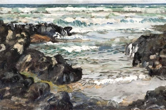 WAVES AT CASTLEROCK By Patric Stevenson ,1956