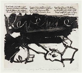 Willem de Kooning, Revenge, from 21 Etchings and Poems (Graham 1)