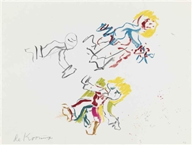 Artwork by Willem de Kooning, For Lisa, Made of lithograph in colors