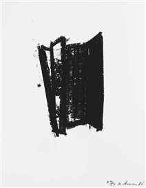 Artwork by Richard Serra, Sketch #6, from Sketch #1-#7 (B.-W. 17; G. 966), Made of lithograph