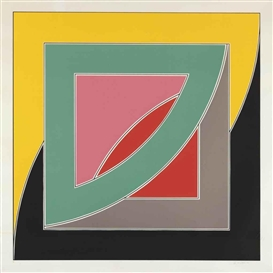Artwork by Frank Stella, Referendum '70 (A. 49), Made of screenprint in colors