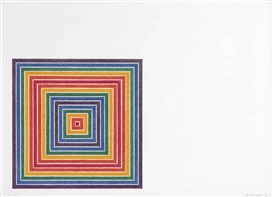 Artwork by Frank Stella, Honduras Lottery Co. (A. 76), Made of offset lithograph in colors