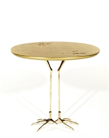Artwork by Meret Oppenheim, Guéridon surréaliste, modèle dessiné en 1939, Made of Gilt wood and brass bird leg occasional table