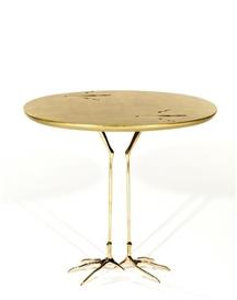 Artwork by Meret Oppenheim, Guéridon surréaliste, modèle dessiné en 1939, Made of Gilt wood and brass bird leg occasional table