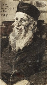 Peder Severin Krøyer, Portrait of an old man at Middelfart mental hospital