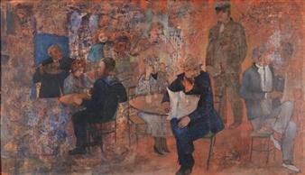Café Scene By Nora Orioli