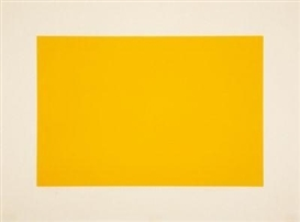 Artwork by Donald Judd, Untitled (Light Cadmium Yellow), Made of Coloured woodcuts on Tosa Hanga