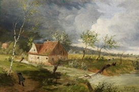 Artwork by Otto Modersohn, Regenstimmung, Made of Oil on canvas