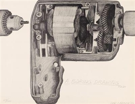 Artwork by Lee Lozano, A boring drawing, Made of Lithograph on vellum