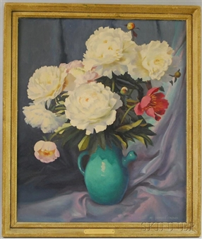 Still Life with Peonies By Mae Bennett Brown