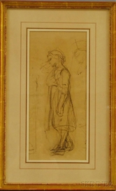 William Morris Hunt, Sketch of a Girl