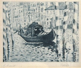 Artwork by Édouard Manet, Venise, Made of etching