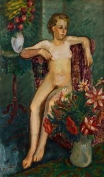 Tonårs kvinnlig nakenhet