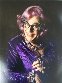 Artwork by Lewis Morley, Barry Humphries and Friends (Barry, Edna, Les, Sandy) & An unsigned photograph depicting Dame Edna Everage: 5 Works, Made of photograph