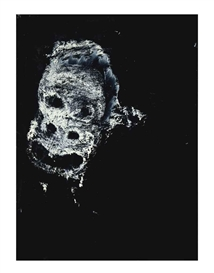 Artwork by Joyce Pensato, Untitled; and three companion works, Made of enamel on paper