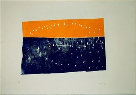Artwork by Norbert Prangenberg, 2 works: Ohne Titel, Made of linocuts on laid paper