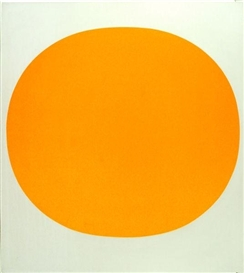 Artwork by Rupprecht Geiger, Orange, Made of Colour serigraph on plastic board