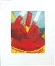 Willibrord Haas, 3 works: Gekrümmter Farbhorizont; Zinnoberschiff; Hermetischer Traum